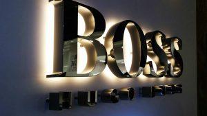 Lichtwerbung Werbeanlage LED-Vollacrylbuchstaben