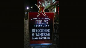 Lichtwerbung Leuchtschilder - M5 Diskothek & Tanzbar