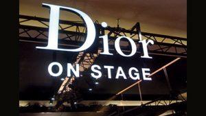 Lichtwerbung LED Vollacrylbuchstaben - Dior on Stage