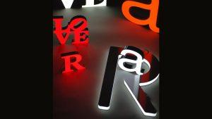 Lichtwerbung LED Vollacrylbuchstaben